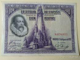 100 Pesetas 1928 - [ 1] …-1931 : Premiers Billets (Banco De España)