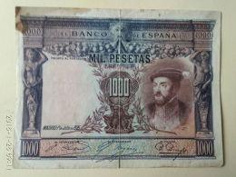 1000 Pesetas 1925 - [ 1] …-1931 : Premiers Billets (Banco De España)