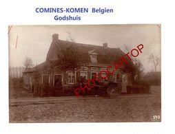 COMINES-KOMEN-Godshuis-PHOTO Mate All.-Cliche 543-Inf. Regt.182-GUERRE 14-18-1 WK-Belgien-Militaria- - Comines-Warneton - Komen-Waasten