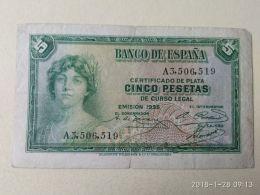 5 Pesetas 1935 - 5 Pesetas