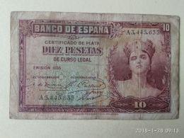 10 Pesetas 1935 - [ 2] 1931-1936 : Repubblica