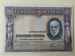 50 Pesetas 1935 - [ 2] 1931-1936 : Repubblica