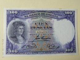 100 Pesetas 1931 - [ 2] 1931-1936 : Republiek