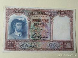 500 Pesetas 1931 - [ 1] …-1931 : Prime Banconote (Banco De España)