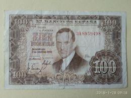 100 Pesetas 1953 - [ 3] 1936-1975 : Regime Di Franco