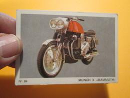 COMPLETEZ VOS ALBUMS !! Image Cartonnée TBE (recupération ) / N° 84 MOTO-PARADE AMERICANA MUNICH Genre PANINI - Moto
