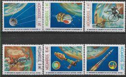 1982 MOZAMBIQUE 884-89** Espace , Satellite SpoutniK - Mozambique