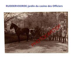 RUDDERVOORDE-Attelage-Jardin Du Casino Des Officiers-PHOTO Mate All.-Cliche 659-Inf. Regt.182-GUERRE 14-18-1 WK-Militari - Oostkamp