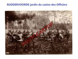 RUDDERVOORDE-Aperitif-Jardin Du Casino Des Officiers-PHOTO Mate All.-Cliche 660-Inf. Regt.182-GUERRE 14-18-1 WK-Militari - Oostkamp