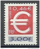 """Timbre France YT 3214 """" Le Timbre Euro """" 1999 Neuf - France"""