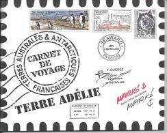 TAAF 2001 Carnet De Voyages N°2 Terre Adélie N°308/321 Cote 104 Euros - Booklets