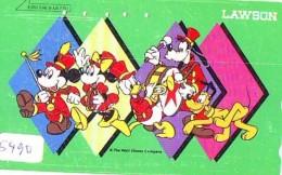 Télécarte Japon / 110-176294 - DISNEY LAWSON - DONALD MICKEY MINNIE GOOFY PLUTO (5490) NOT FOR SALE - Japan Phonecard TK - Disney