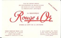 BUVARD  La  Biblithèque  Rouge & Or  Forme  Le  Goût  De  La  Jeunesse - Collections, Lots & Series