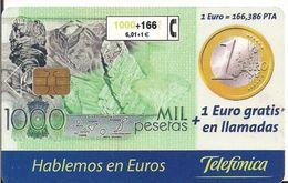 TARJETA TELEFONICA MONEDA EURO BILLETE - Tarjetas Telefónicas