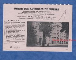 Timbre De 10 Francs - Grand Format - édité Par L' Union Des Aveugles De Guerre - 1970 - CARNOLES ( Alpes Maritimes ) - Variedades Y Curiosidades