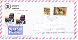 SOUTH SUDAN Postally Used Cover From South Sudan Via Uganda To The Netherlands #300 Südsudan Soudan Du Sud Stamps - South Sudan