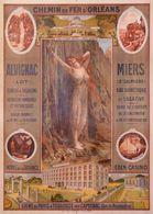 Chemin De Fer D'Orléans Alvignac Miers 1900 - Postcard Reproduction - Publicité