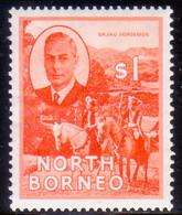NORTH BORNEO 1950 SG #367 $1 MH(part Gum) - North Borneo (...-1963)