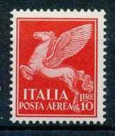 D- Italie 1930-32, N° 17, 10L Rouge, Cheval Ailé, **/mnh - 1946-.. République