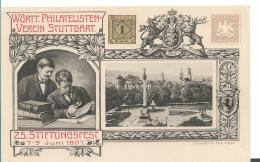 Ger458 / Privatganzsache, Stiftungsfest 1907, Stuttgarter Philatelisten - Allemagne