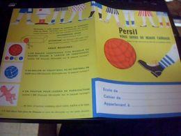 Publicitee  Protege  Cahier Lessive Persil Neuf Tbe - Buvards, Protège-cahiers Illustrés