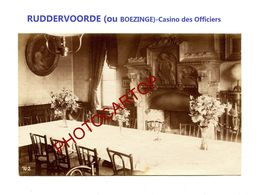 RUDDERVOORDE Ou BOEZINGE-Casino Des Officiers-PHOTO Mate All.-Cliche 702-Inf. Regt.182-GUERRE 14-18-1 WK-Militaria- - Oostkamp