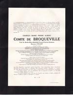 Château De POSTEL MOL Ministre D'Etat Comte Charles De BROQUEVILLE Ancien Premier Ministre 1860-1940  2 Volets D'HUART - Décès