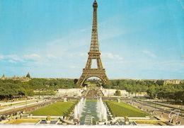 France & Circulated,  Les Jardins Du Trocadero Et La Tour Eiffel, Val De Marne, Paris, Vieira Do Minho 1970 (102) - Monuments