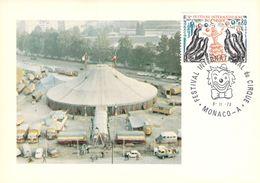 MONACO CARTE MAXIMUM  NUM.YVERT 1167 LE CIRQUE - Maximumkarten (MC)