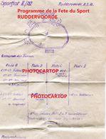 RUDDERVOORDE-Programme De La Fete Sportive-8-5-1916-Inf. Regt.182-GUERRE 14-18-1 WK-Militaria- - Oostkamp