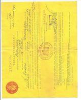 Gezegeldpapier 1 1/2 G.IMMIGRATIE COMMISSIE 6.2.1942 - Niederländisch-Indien
