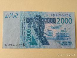 2000 Francs 2003 - États D'Afrique De L'Ouest