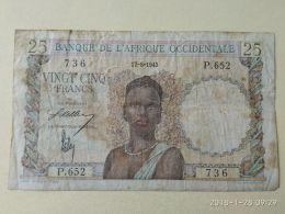 25 Francs 1943 - Stati Dell'Africa Occidentale