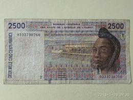 2500 Francs 1994 - États D'Afrique De L'Ouest