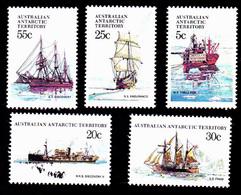 AAT 1979 Ships Of The Antarctic  Part 1  - 5 Values - Mint  MUH  New / Neufs Sans Charniere - Ongebruikt