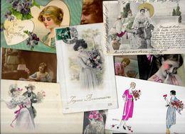 Lot 1200 De 10 CPA Femme Girl Illustrateurs Déstockage Pour Revendeurs Ou Collectionneurs - Cartoline