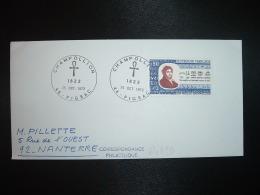 LETTRE TP JEAN-FRANCOIS CHAMPOLLION 0,90 OBL.25 OCT. 1972 46 FIGEAC - Egyptologie