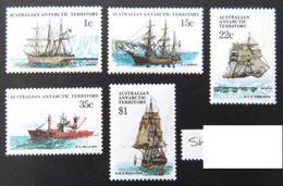AAT 1980 Ships Of The Antarctic  Part 2  - 5 Values - Mint  MUH  New / Neufs Sans Charniere - Ongebruikt