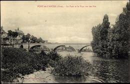 Cp Pont De L'Arche Eure,Le Pont Et Le Pays Vus Des Iles - France