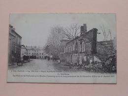 Mézières La Place De La Préfecture Et Le Moulin Pommery Après Le Bombard... ( 13 - A. Gelly ) Anno 19?? ( Voir Photo ) ! - Charleville