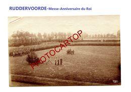 RUDDERVOORDE-Messe-Anniversaire Du Roi-Cliche 737-Inf. Regt.182-GUERRE 14-18-1 WK-Militaria-Belgien- - Oostkamp