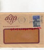 FRANCE- ENVELOPPE AGP-CACHET PARIS TRI DISTRIBUTION N° 1-DITES LE AVEC DES FLEURS- SAINT DIE 1958- 54 RUE ETIENNE MARCEL - France