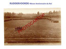 RUDDERVOORDE-Messe-Anniversaire Du Roi-Cliche 746-Inf. Regt.182-GUERRE 14-18-1 WK-Militaria-Belgien- - Oostkamp