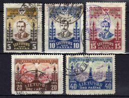 Litauen / Lietuva, 1930,  Mi 307-311, Flugpost, Gestempelt [280118XXII] - Lithuania
