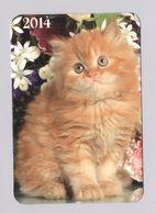 ANIMALS Pocket Calendar Cat Cats 2014 UKRAINE Fauna - Calendars