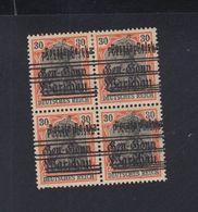 Polen Poland 4er Block Doppel-Aufdrucke Auf Germania Mit Falz * - ....-1919 Übergangsregierung