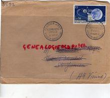22- PLEUMEUR BODOU- ENVELOPPE PREMIER JOUR TELECOMMUNICATIONS SPATIALES-29-9-1962-1 ERE LIAISON TELEVISION SATELLITE - FDC