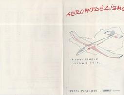 AEROMODELISME / PLANEUR SIMOUN - CYCLONE - AZOUK - MINOS - I BIS - MA 2 / PLANS PRATIQUES - Airplanes & Helicopters