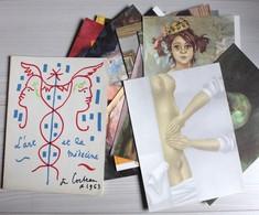 Jean COCTEAU 1963 L'art Et La Médecine Vus Par 24 Peintres Contemporains Lithographies Exposition Galerie Dulac Brayer - Litografía