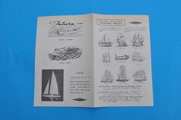 PLANS MARINE COLLECTION HENAULT / MAQUETTES DE BATEAUX SANTA MARIA - LE TONNANT - GOLDEN HIND - VEDETTES FUTURA ET  ROSY - Boats